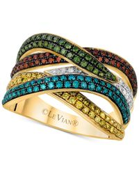 Le Vian | Exotics® Multicolor Diamond Ring (1-1/10 Ct. T.w.) In 14k Gold | Lyst