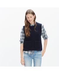 Madewell - Black Merino Ribbed Sweater-vest - Lyst