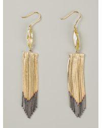 Iosselliani - Metallic Fringed Earrings - Lyst