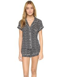 Eberjey - Black Sleep Chic Pj Set - Lyst