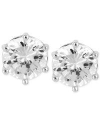 Robert Lee Morris - White Silver-tone Large Crystal Stud Earrings - Lyst