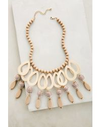Anthropologie - Natural Dovetail Bib Necklace - Lyst