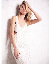 Free People - White Cross My Heart Dress - Lyst