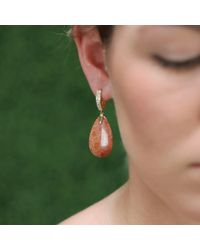Pamela Huizenga - Brown Fossilized Coral Earrings - Lyst