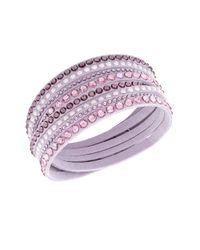 Swarovski - Pink Slake Deluxe Crystal Stud Wrap Bracelet - Lyst