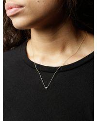 Gabriela Artigas - Metallic Diamond V Necklace - Lyst