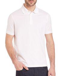 Ferragamo - White Soft Cotton Polo for Men - Lyst