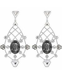 Swarovski | Black Brunette Pierced Earrings | Lyst