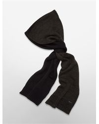 Calvin Klein | Green White Label Marled Colorblock Muffler Scarf | Lyst