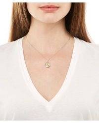 True Rocks - Metallic Silver Iced Gem Necklace - Lyst