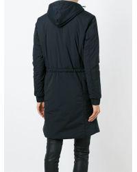 Eleventy Black Zipped Hooded Parka