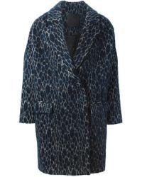 D.Efect - Blue 'hayley' Coat - Lyst