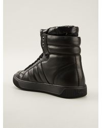 Moncler - Black Hitop Trainers for Men - Lyst