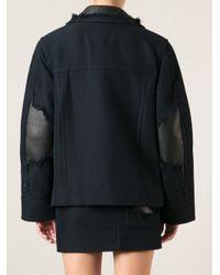 Alexander Wang - Blue Fringe Detail Coat - Lyst