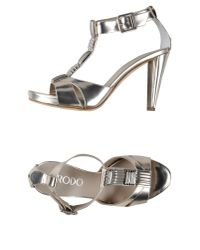 Rodo - Metallic Sandals - Lyst