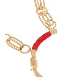Aurelie Bidermann - Red Gold-Plated And Cotton Necklace - Lyst