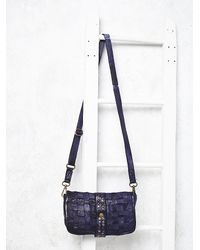 Free People | Blue Tano Womens Antique Leather Crossbody | Lyst