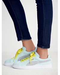 Free People - Blue Suede Classic Sneaker - Lyst