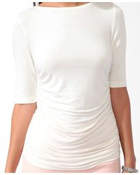 Forever 21 - Natural Contemporary Essential Ruched Top - Lyst