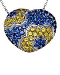 Pasquale Bruni - 18k Blue & Yellow Sapphire Pendant Necklace - Lyst