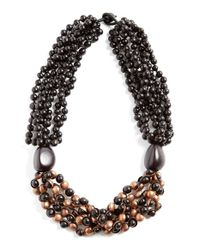 Eskandar | Metallic Seed Bead & Copper Short Necklace | Lyst