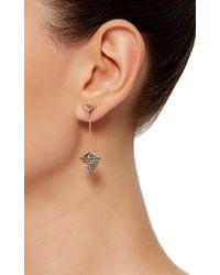 Noor Fares - Metallic Geometry 101 Octahedron Drop Earrings - Lyst