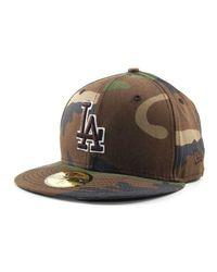 reputable site 47f66 d5cd8 Men s Green Los Angeles Dodgers Mlb Bc Camo 59fifty Cap