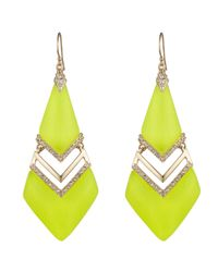 Alexis Bittar | Yellow Phoenix Deco Chevron Drop Earring You Might Also Like | Lyst