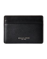 Michael Kors | Black Crossgrain Leather Cardholder for Men | Lyst