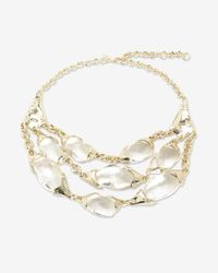 Alexis Bittar | White Three Strand Crystal Lucite Necklace | Lyst