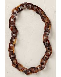Anthropologie | Brown Linked Tortoiseshell Necklace | Lyst