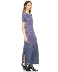 Band of Outsiders - Dip Dye Mini Rose Silk Maxi Dress Bluepink - Lyst