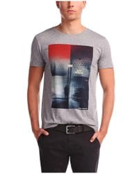 BOSS Orange - Gray T-shirt 'thiemon 1' In Cotton for Men - Lyst