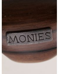 Monies - Brown Oval Ring - Lyst