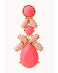 Forever 21 - Pink Charming Cluster Drop Earrings - Lyst
