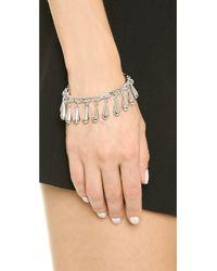 Eddie Borgo - Metallic Bell Bracelet - Silver - Lyst