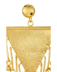Paula Mendoza | Metallic Gold Plated Three Musketeer Convertible Earrings | Lyst