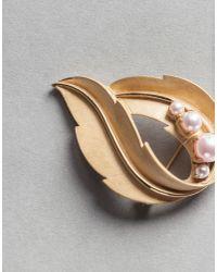 Dolce & Gabbana | Metallic Pearl Brooch | Lyst