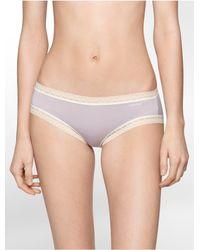 Calvin Klein - Purple Underwear Flourish Hipster - Lyst