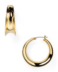 Pink Pony | Metallic Lauren Concave Hoop Earrings | Lyst