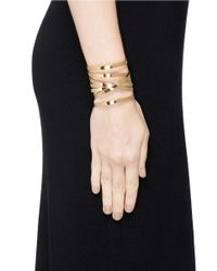 Philippe Audibert - Metallic Crisscross Layer Open Cuff - Lyst