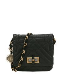 Lanvin - Black Quilted Lambskin 'happy Mini Pop' Chain Shoulder Bag - Lyst