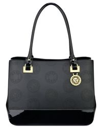 Anne Klein | Black New Recruits Perforated Large Satchel | Lyst