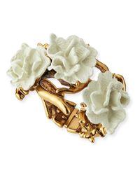 Oscar de la Renta | Metallic Ivory Coral Bracelet | Lyst