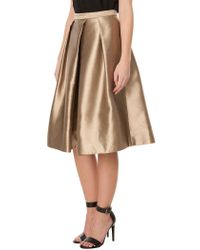 Tibi - Metallic Halcyon Taffeta Full Skirt - Lyst
