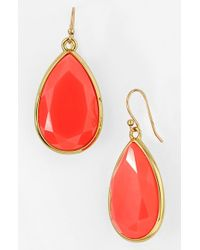 kate spade new york | Red 'Day Tripper' Teardrop Earrings - Geranium | Lyst