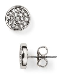 Rebecca Minkoff | Metallic Pavé Disc Stud Earrings | Lyst