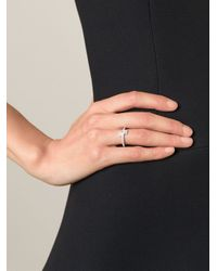 V Jewellery - Metallic 'Maze' Ring - Lyst