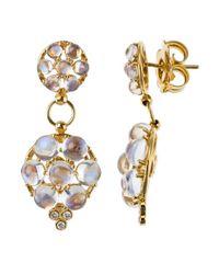 Temple St. Clair - Metallic Women's 18k Yellow Gold Crystal Earrings - Lyst