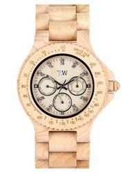 WeWood - Natural 'cygnus' Multifunction Wood Bracelet Watch - Lyst